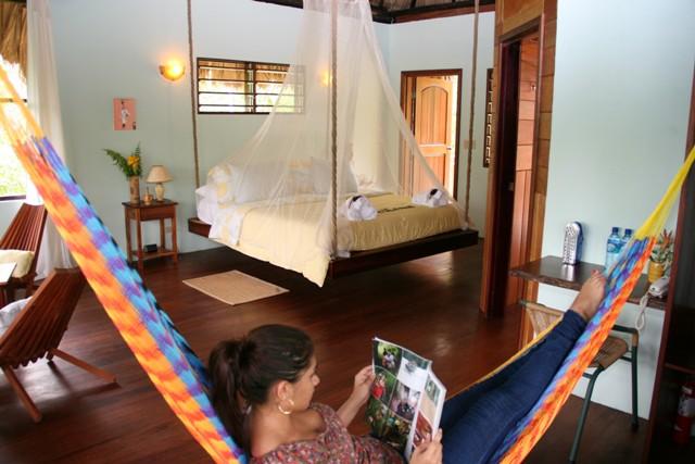 Bed on ropes 650 Chabil Mar Belize Resort