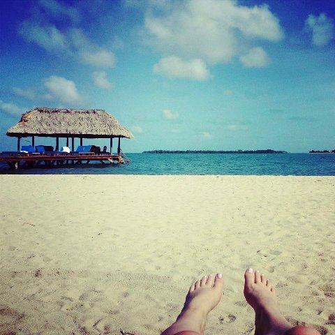 Elizabeth Feet 650 with a view on beach Chabil Mar Belize Resort