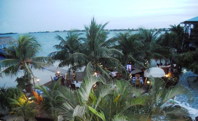 Elizabeth Grill night 650 from balcony Chabil Mar Belize Resort