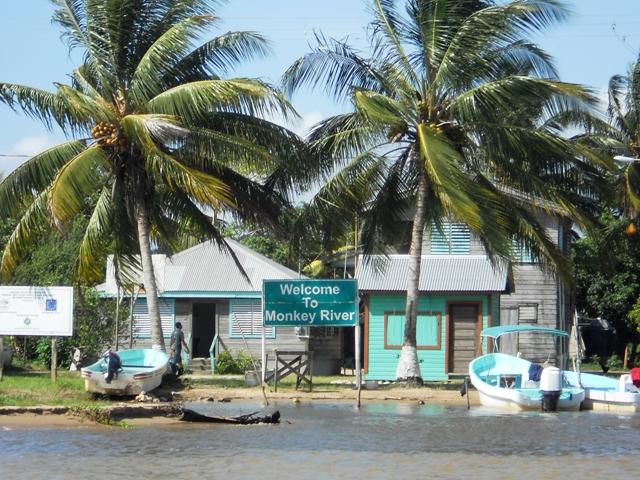 Elizabeth Monkey River Welcome 650 Sign Chabil Mar Belize Resort