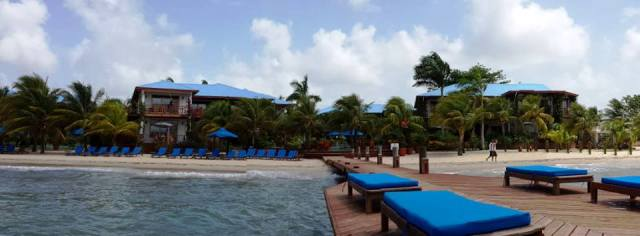 Full Front 650 from mid pier Chabil Mar Belize Resort