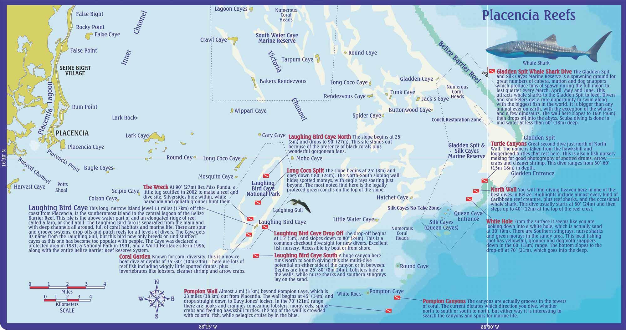 Map Dive Placencia