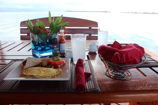 Breakfast on the Pier at Chabil Mar Resort - Belize