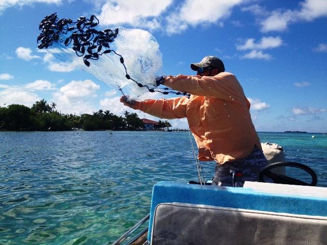 Fishing Casting for Bate Chabil Mar Resort Belize