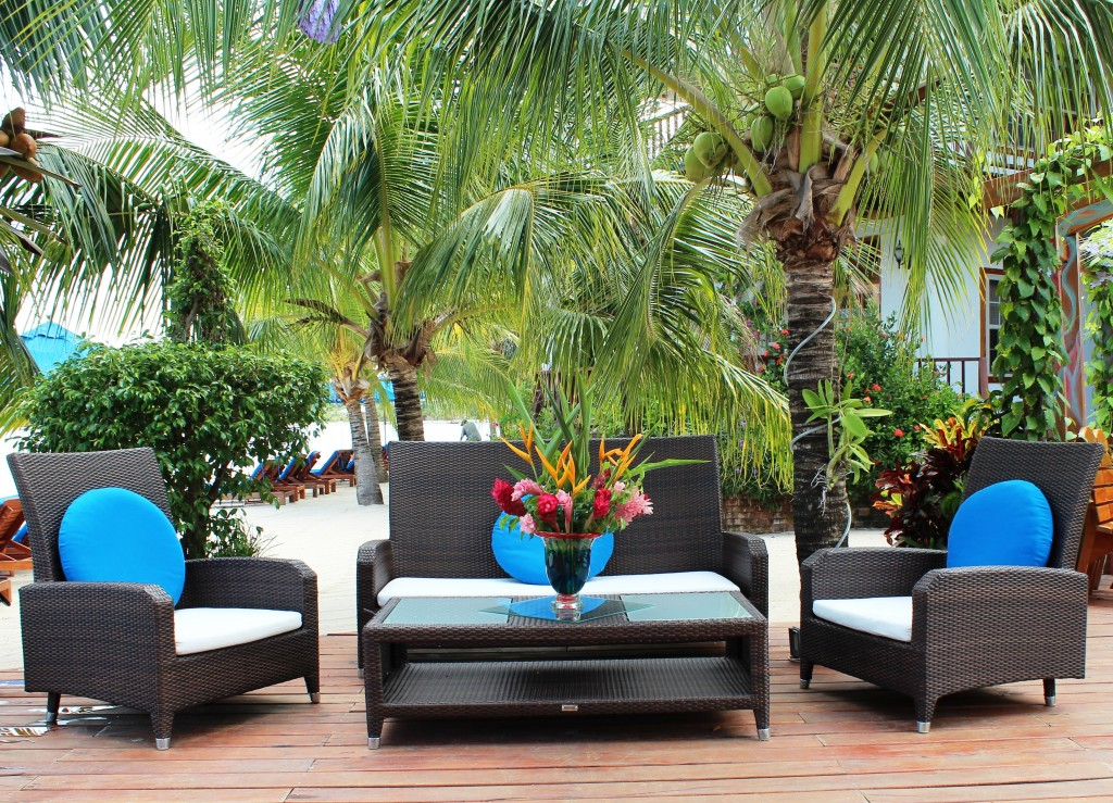 Beach Side Lounge Sofa and Chairs Chabil Mar Resort Belize