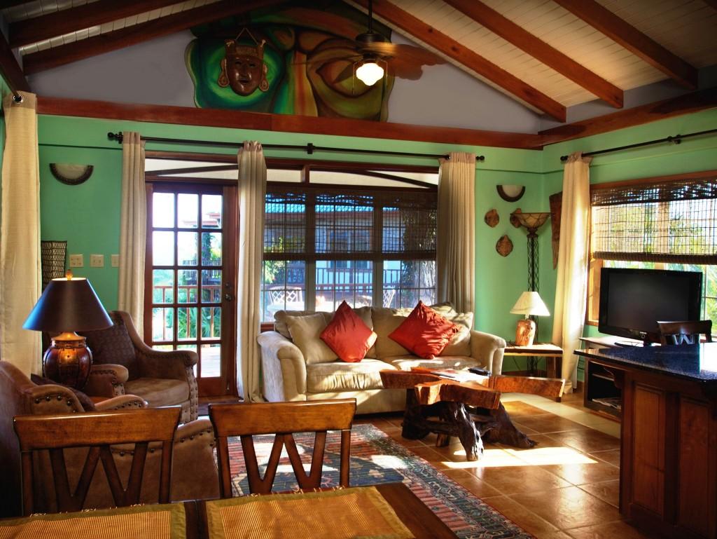 Interior Living Area Lux Villas Chabil Mar Belize Resort