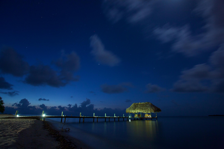 Chabil Mar Belize Resort Night Scene Pier and Stars