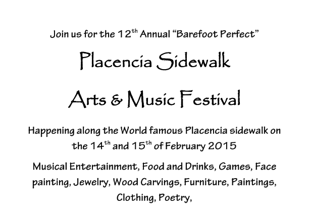 placencia sidewalk festival in belize