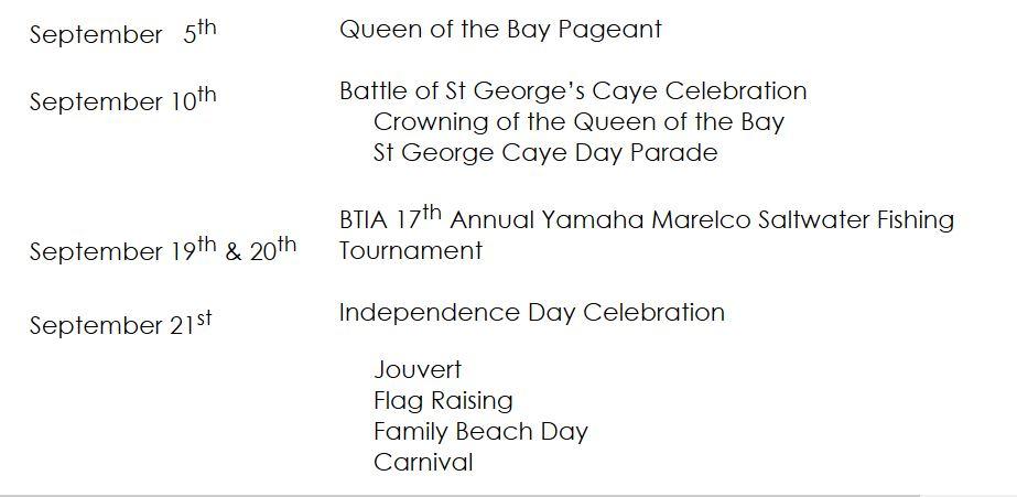 september celebrations in placencia belize