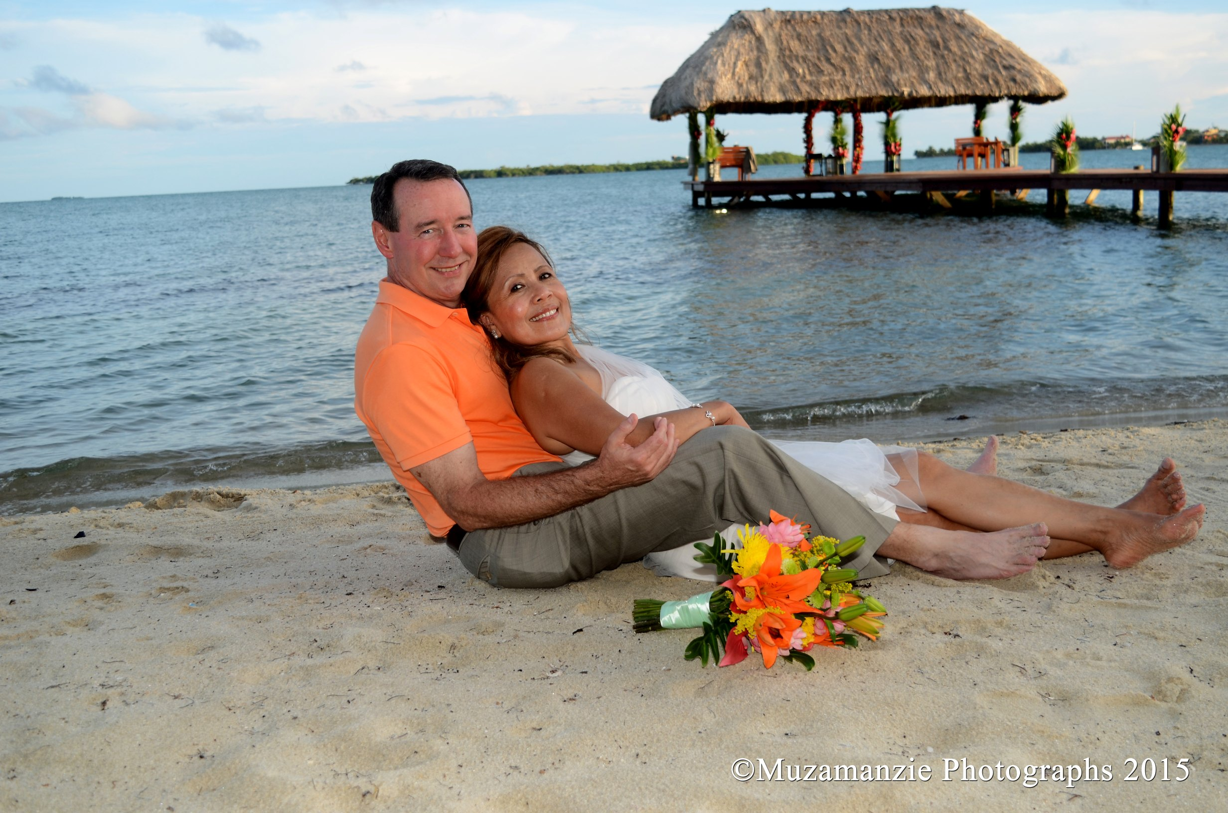 Beach Relax Taylor Wedding Chabil Mar Resort Belize