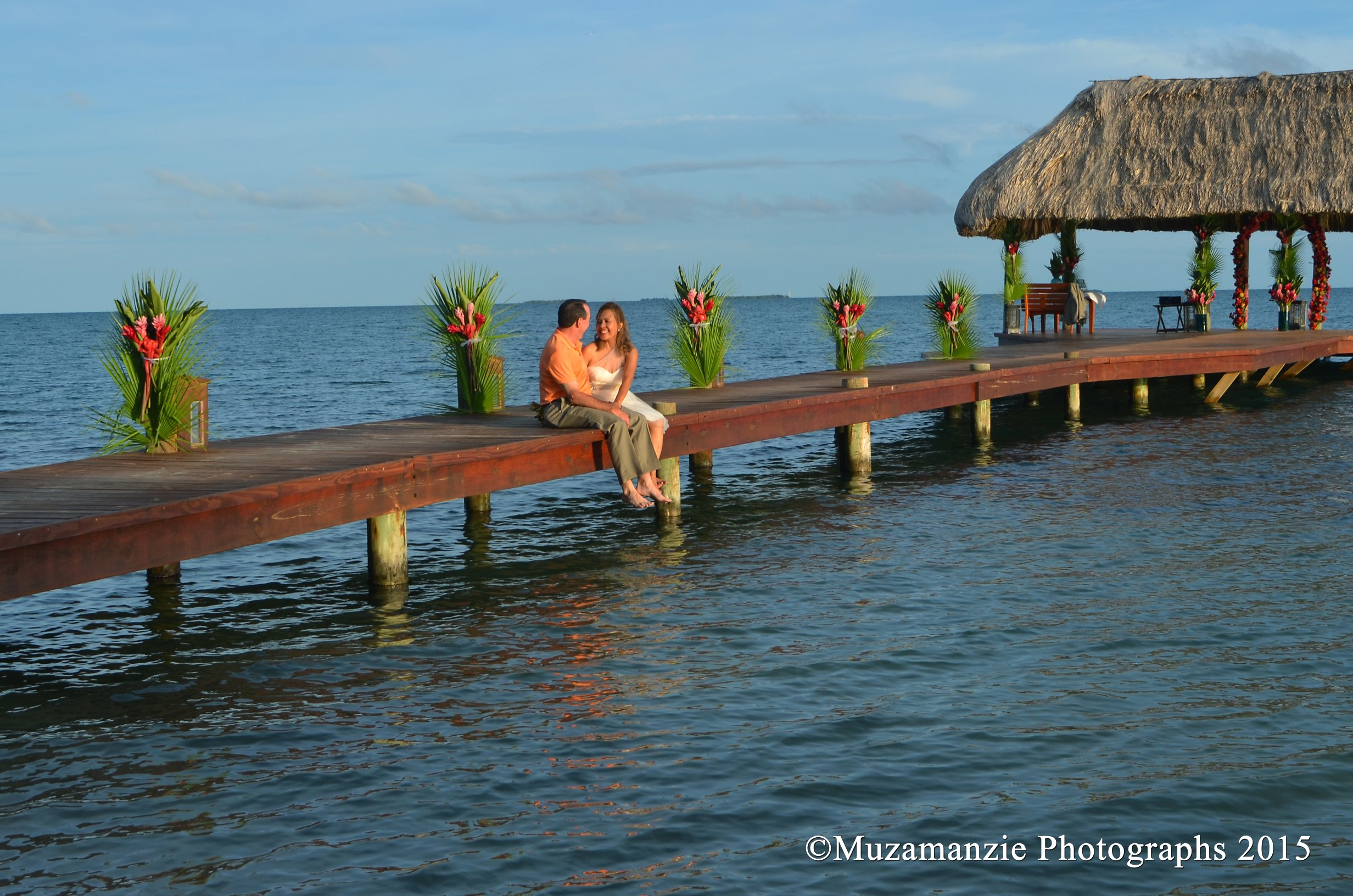 Pier Taylor Wedding Chabil Mar Resort Belize