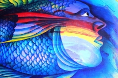 Belize Art is often very Colorful with Vibrant Imagery An Original - Maya Boy
