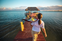 Pier Dining Service - Chabil-Mar-Resort-Belize
