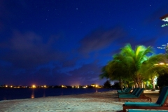 The Evening Lights of Placencia Village from Chabil Mar