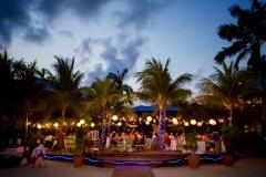 A Wedding Reception at Dusk . . . Beach-Side Chabil Mar